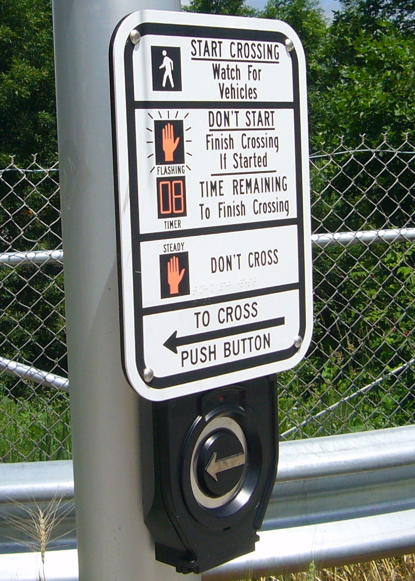 Pictured is one example of an Accessible Pedestrian Signal.